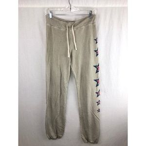 SUNDRY ANTHROPOLOGY Tan Star Motif Joggers Size 3